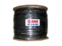 Dây điện thoại Sino đen 2Px0.5